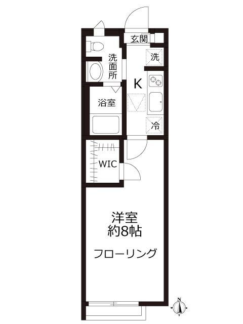 ★おススメ★バンブーコート101号室 駅近!角部屋!