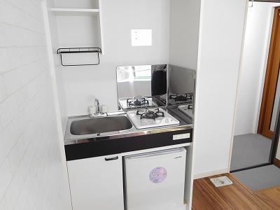 ミニ冷蔵庫 室内洗濯機置き場(キッチン)